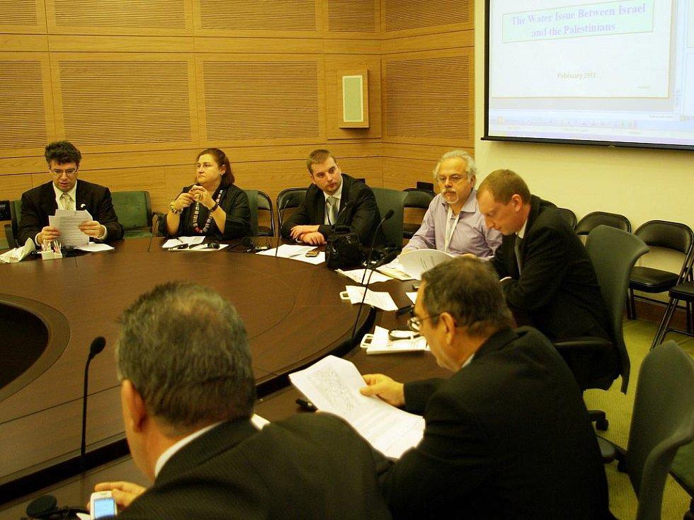 Zasedací síně výborů jsou výsledkem rekonstrukce a dostavby Knessetu v roce 2005