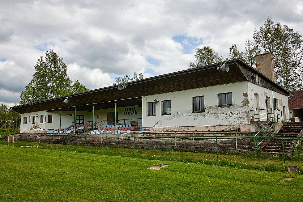 Fotbalový stadion Baníku Žacléř.