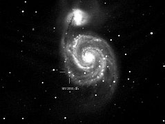 Exploze supernovy v galaxii M 51