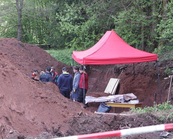 Exhumace ostatků Němců vRudníku