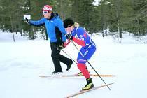 LUDMILA HORKÁ  na  trati finského závodu.