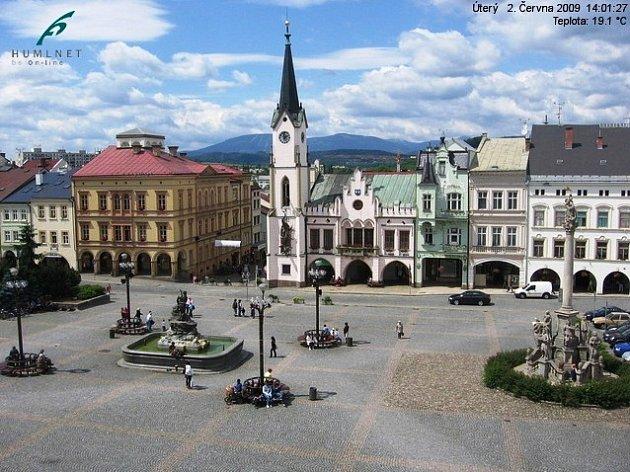 Webkamera trutnovského Krakonošova náměstí