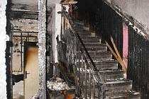 Lednový požár domu v Rudníku