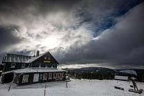 Sníh v Krkonoších