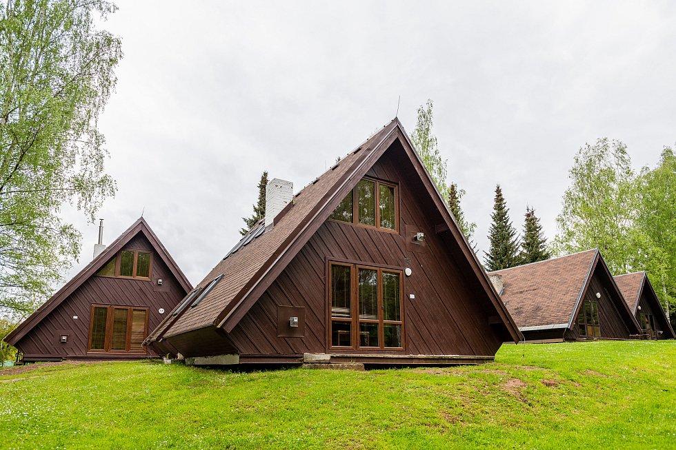 Finské chaty v kempu Dolce u Trutnova jsou mimořádně oblíbené. Každoročně jsou v předstihu rychle obsazené.