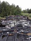 Požár dřevostavby způsobil škodu za asi pět milionů korun.