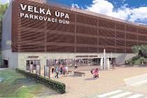 PARKOVACÍ DŮM  v lokalitě Portášky má přinést 350 míst pro auta. Další vzniknou v novém dopravním terminálu u čerpací stanice a zastřešením dvou stávajících parkovišť.