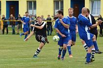 Momentka z utkání Mostek vs. Bílá Třemešná.