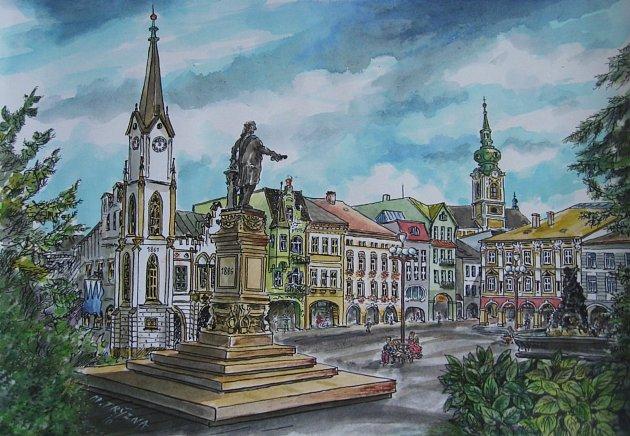 Malíř Miloš Trýzna dokázal krásně zachytit podobu Trutnova, jehož byl patriotem.