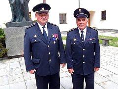 OCENĚNÍ zleva: Jiří Mašek a Bohuslav Tomeš.