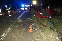 Na silnici mezi obcemi Choustníkovo Hradiště a Kuks havaroval 61letý řidič. Nadýchal 1,31 promile alkoholu.