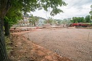 Stavba parkoviště Na Nivách u nové budovy Střediska volného času v Trutnově přinese 81 parkovacích míst.