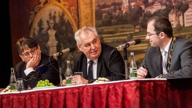 Prezident Miloš Zeman návštěvou ve Dvoře Králové.