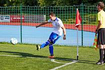 KANONÝR Petr Holubec rozhodl duel Trutnova na hřišti Kolína dvěma góly.