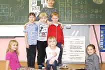 Žáci 1. třídy ZŠ Černý Důl