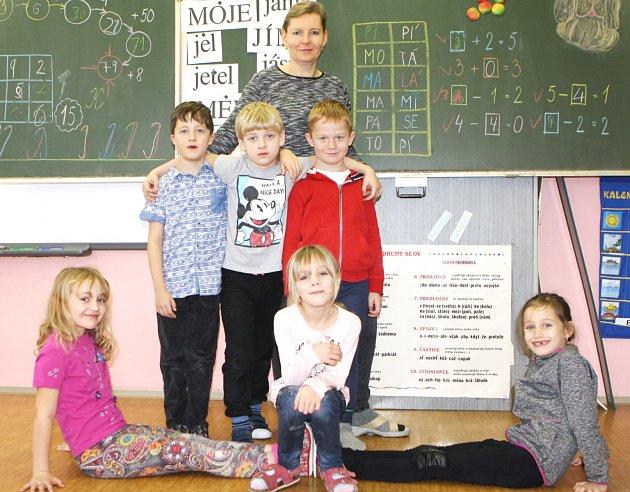 Žáci 1.třídy ZŠ Černý Důl