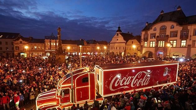 Vánoční kamion ve Dvoře Králové.