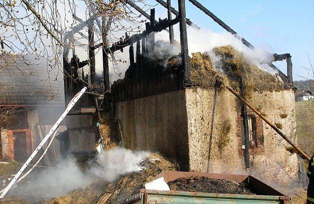 Požár stavení v Havlovicích