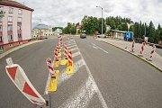 Oprava silnice v Pražské ulici v Trutnově.