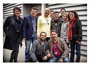 Ondřej Hübl v Barceloně s Lionelem Messim, kde natáčeli spot pro katarského mobilního operátora Ooredoo.