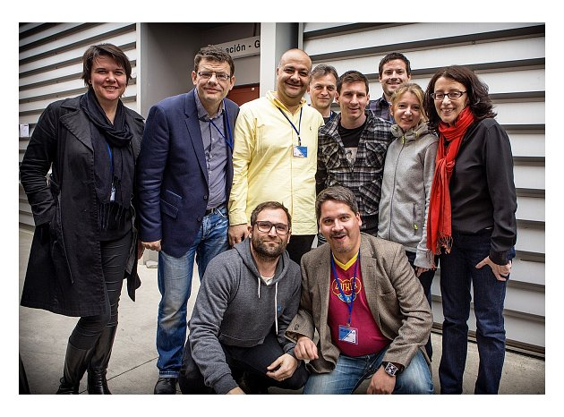 Ondřej Hübl vBarceloně sLionelem Messim, kde natáčeli spot pro katarského mobilního operátora Ooredoo.