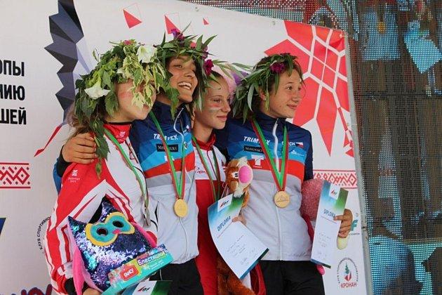 Orientační běžkyně jilemnického klubu Anna Karlová získala dvě medaile na mistrovství Evropy dorostu vběloruském Grodnu.