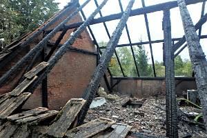 Požár domu v Radči u Úpice