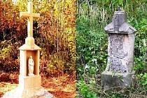 Rekonstrukce kamenného křížku v okolí Levínské Olešnice
