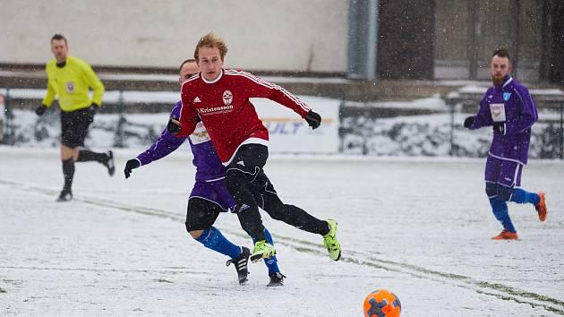 Z fotbalového duelu Divize C Trutnov - Vykáň (4:0).