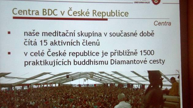 Den otevřených dveří Centra buddhismu Diamantové cesty v Trutnově.