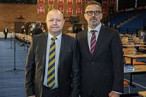 Kandidáti na předsedu FAČR Petr Fousek a Karel Poborský.