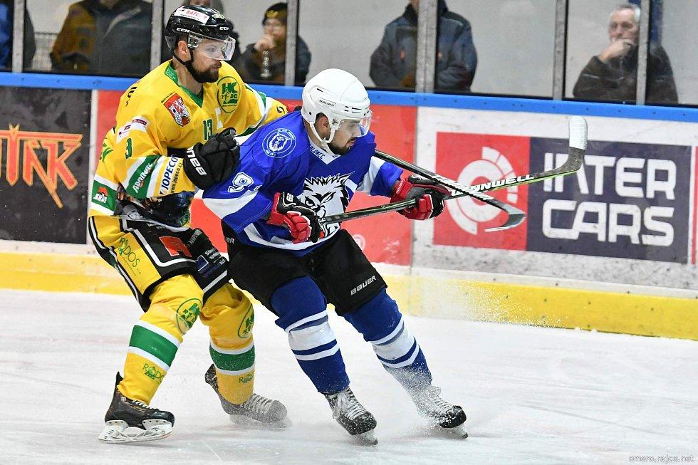 Ve 36. kole druhé hokejové ligy se ve středu večer potkají Dvůr Králové nad Labem a Trutnov.