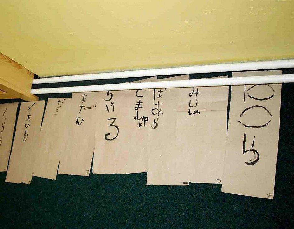 Asijská noc v knihovně Slavoj Dvůr Králové - japonsky psaná jména