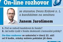 Online rozhovor s Janem Jarolímem
