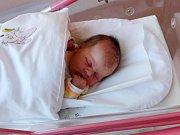 MICHAELA PACÁKOVÁ se narodila 14. října v 00.27 hodin Lucii a Davidovi. Vážila 3,64 kilogramu a měřila 50 centimetrů. Doma v Úpici už čeká také sestřička Eliška.