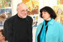 Předseda poroty Miroslav Barták a ředitelka zoo Dana Holečková