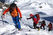 Čeští záchranáři cvičili v Alpách. A obstáli