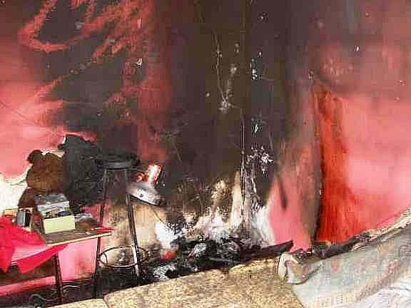Požár domu v Choustníkově Hradišti