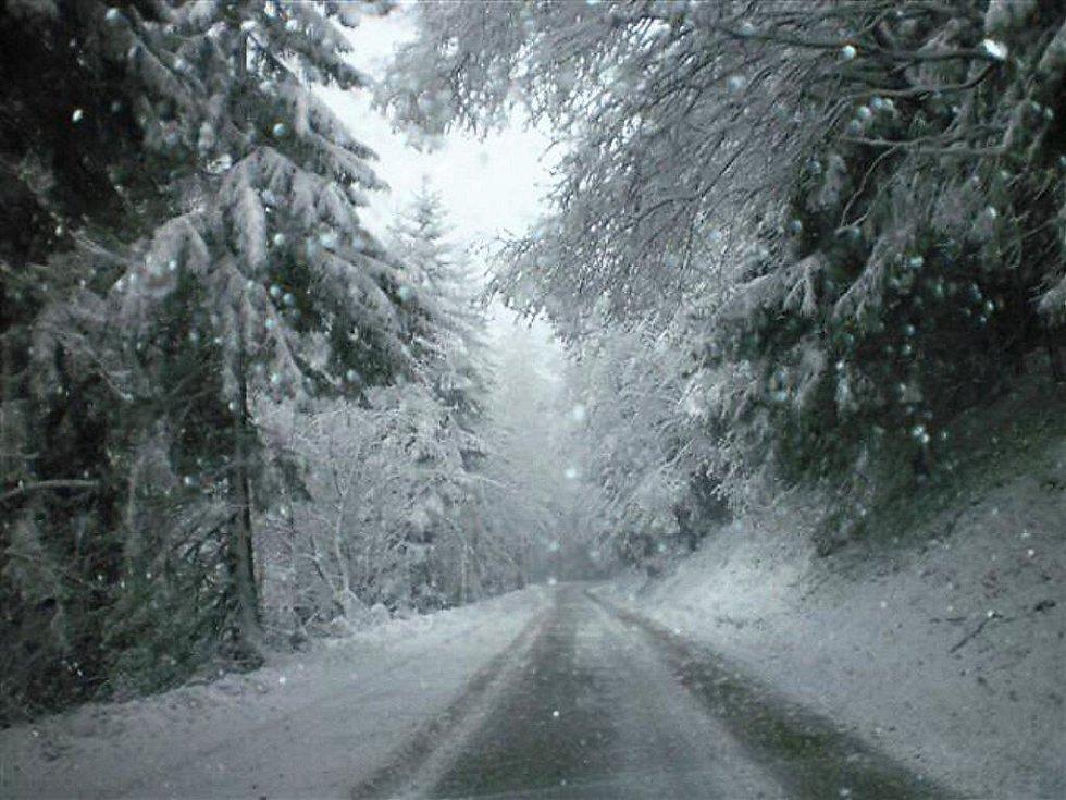 Dnes Horní Mísečky ovládla zima