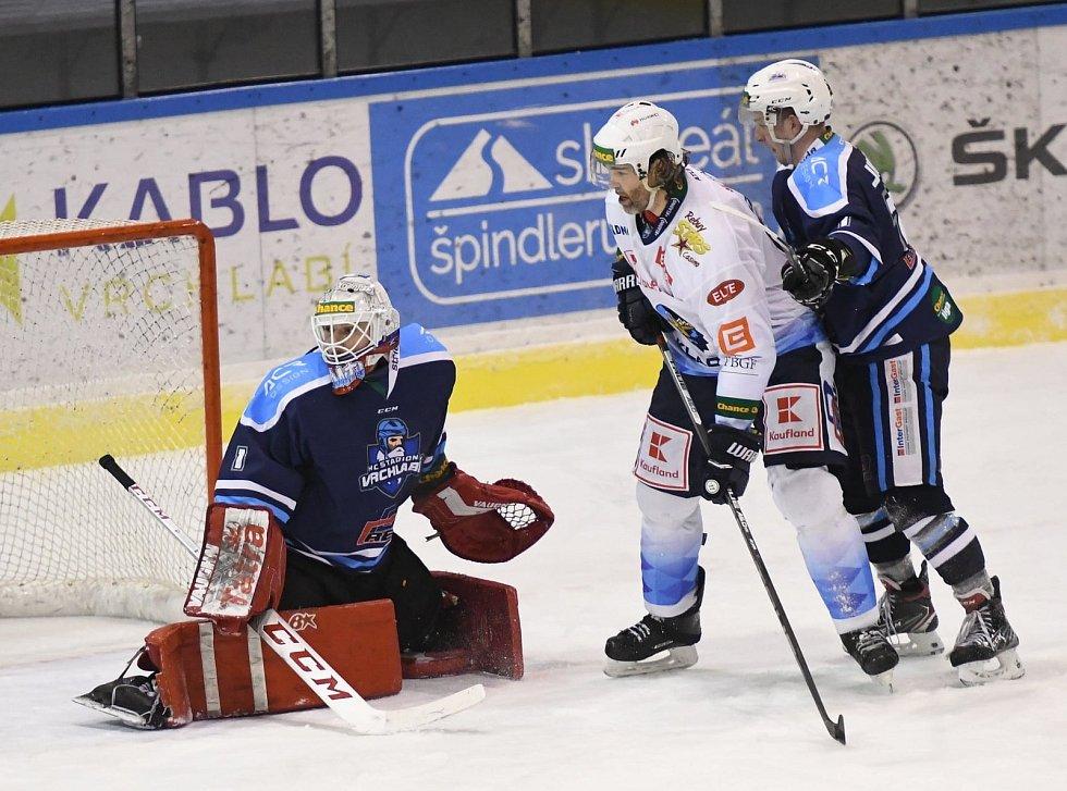 Vrchlabští hokejisté ve 27. kole Chance ligy přivítají Benátky nad Jizerou.