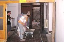 PRÁCE na opravách muzea stále pokračují. Rekonstrukcí prochází mimo jiné i atrium budovy.