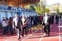 Slavnostní otevření nového atletického areálu v Trutnově