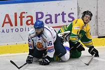 Z hokejového duelu 2. ligy Dvůr Králové - Řisuty (2:4)
