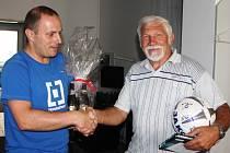Druhý v pořadí jarní Tip ligy, Václav Herout (vpravo)
