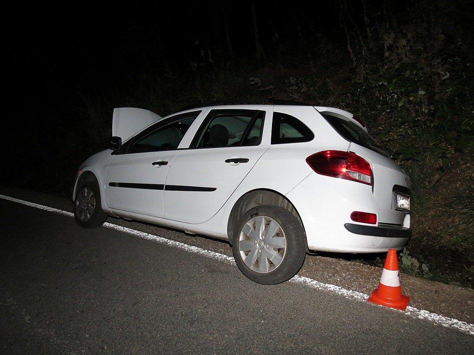 S vozidlem narazil do zábradlí. Naštěstí vyvázl bez zranění.