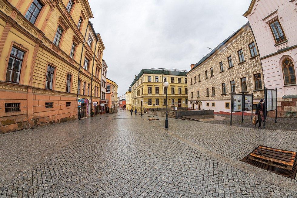 Centrum Trutnova v sobotu 13. března.