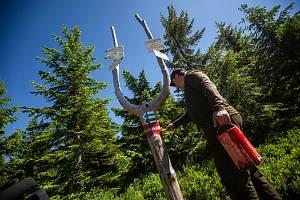 Správci Krkonošského národního parku vyznačili v terénu nová klidová území.