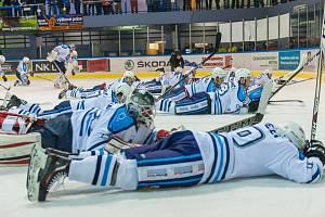Konec pomyslného válení. Vrchlabští hokejisté jdou do zápasu.