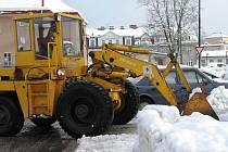 Úklid sněhu ve Vrchlabí