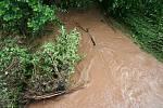 Povodeň na Jilemnicku - Mříčné. Zde také došlo k vylití místního potoku, kde snad nenapáchal  žádné materiální škody.